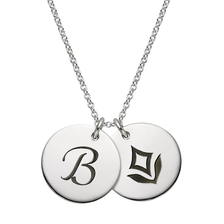 Personalized Charm Necklace in Silver