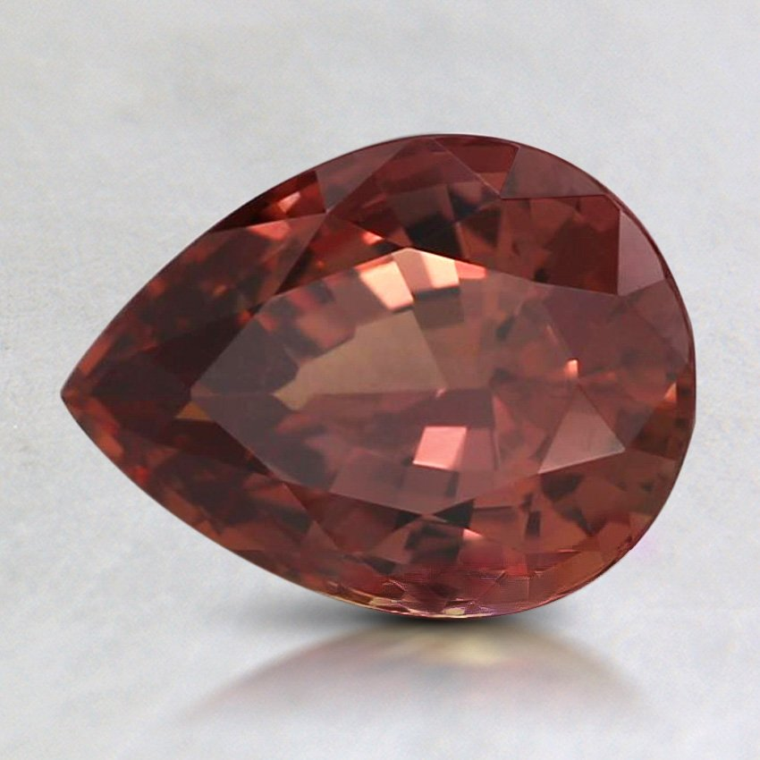 8.5X6.2mm Red Pear Sapphire, top view