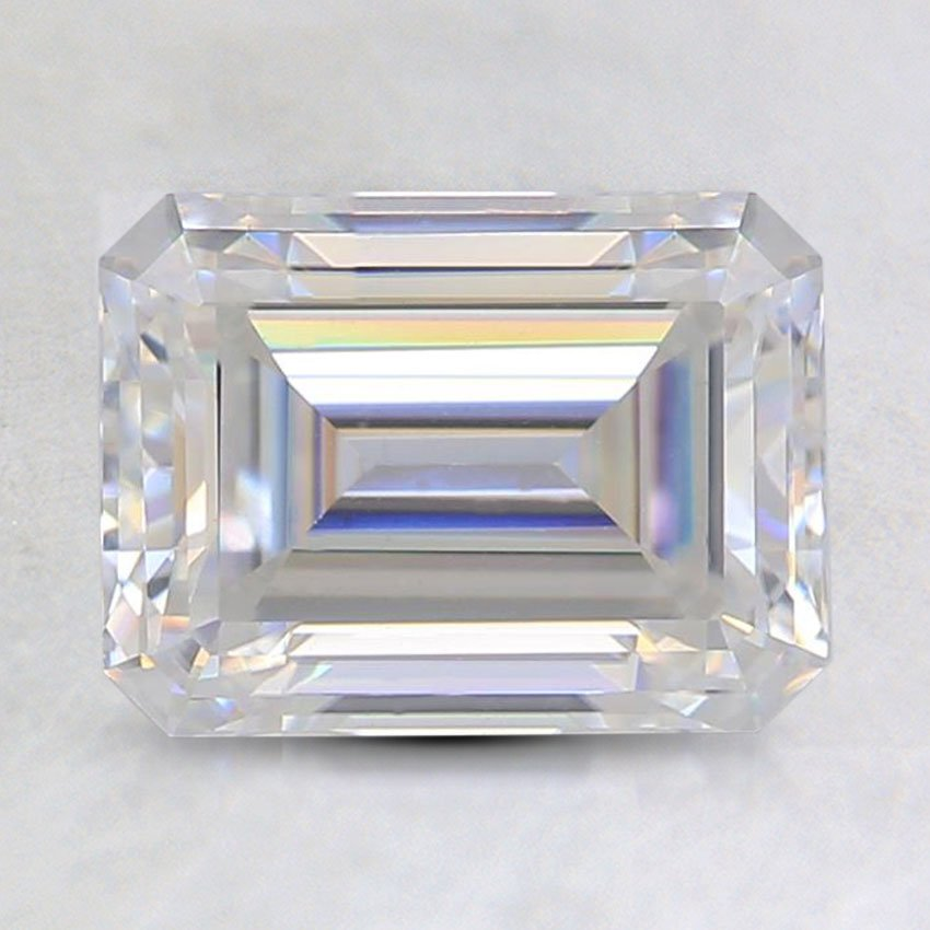 8x6mm Super Premium Emerald Moissanite, top view