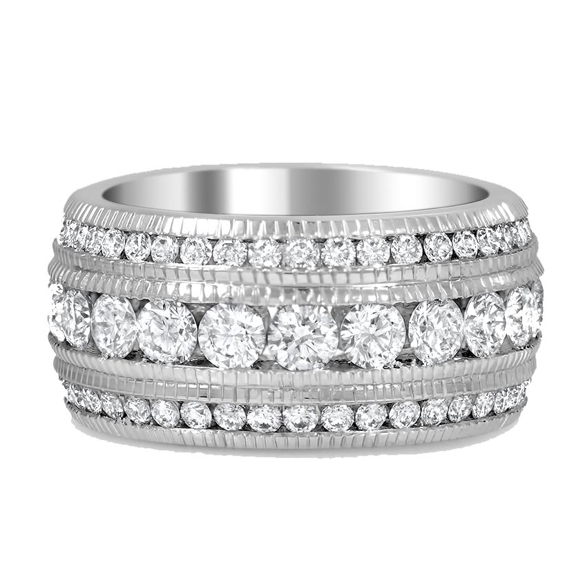 Modern Reproduction Diamond Cocktail Ring