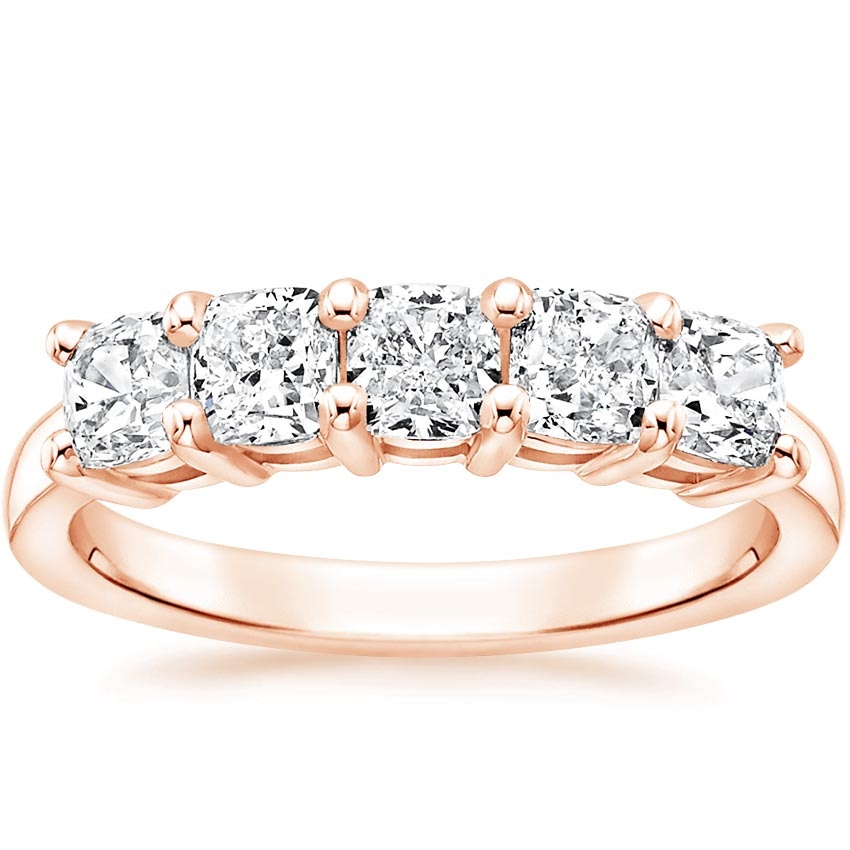 Rose Gold Cushion Five Stone Diamond Ring (1 1/2 ct. tw.)