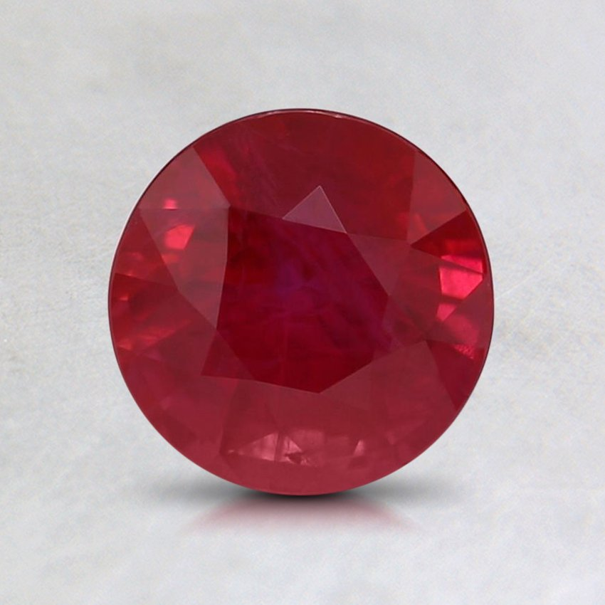 6.5mm Round Ruby, top view