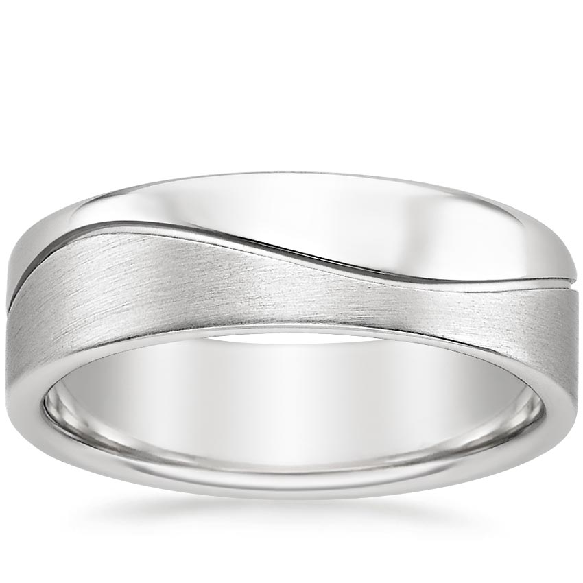 Wave Wedding Ring in Platinum