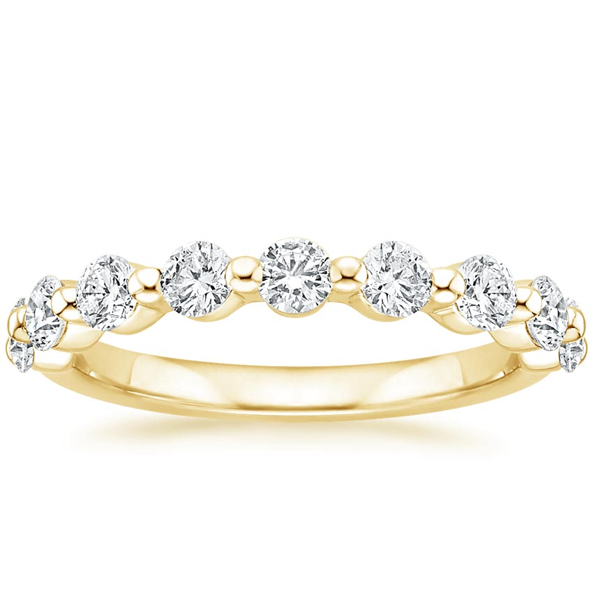 Yellow Gold Monaco Lab Diamond Ring (3/4 ct. tw.)