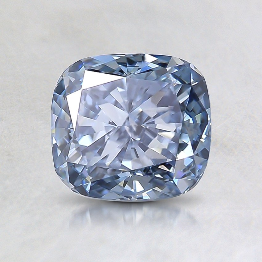 1.13 Ct. Fancy Blue Cushion Lab Created Diamond