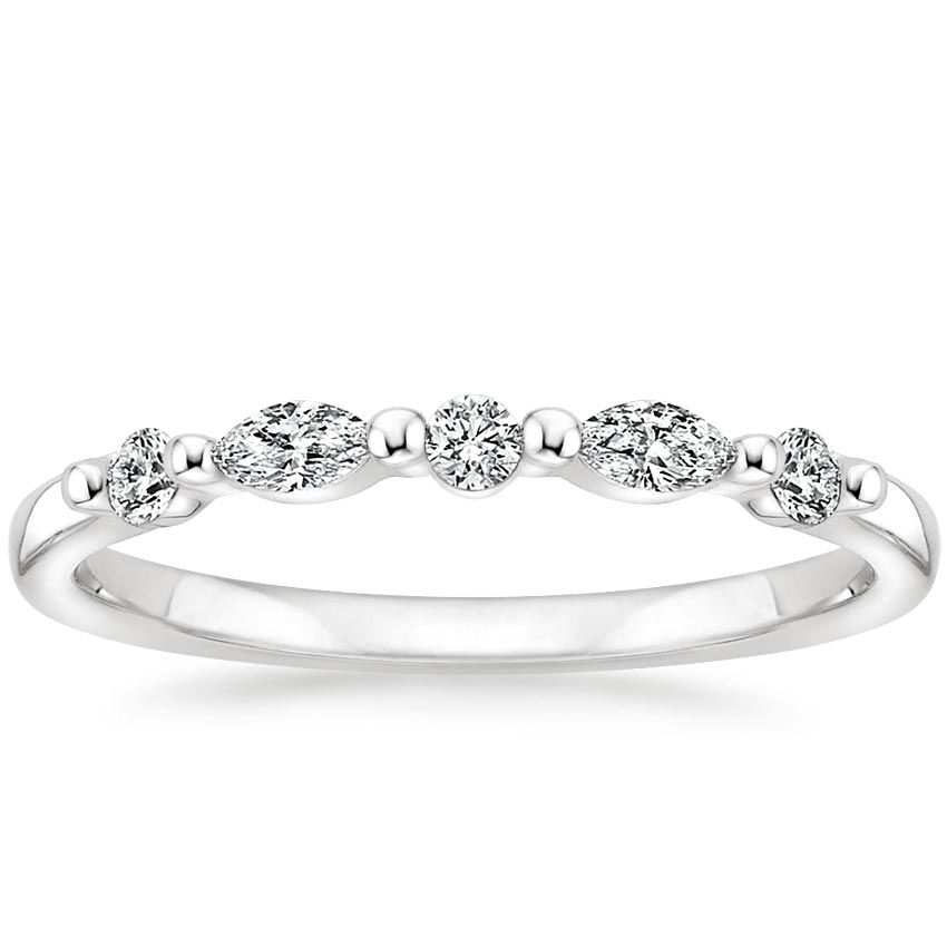 Petite Versailles Diamond Ring (1/5 ct. tw.) in Platinum