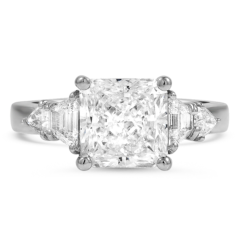 Custom Five Stone Basket Diamond Ring