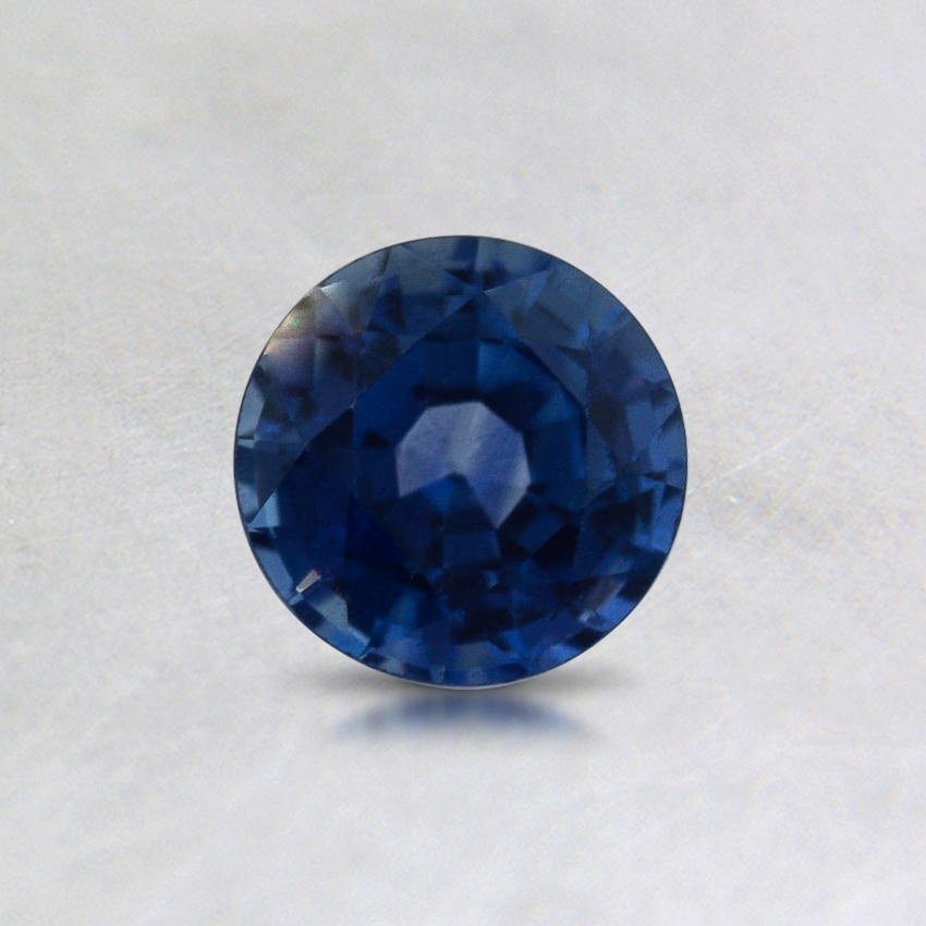 5mm Blue Round Sapphire, top view