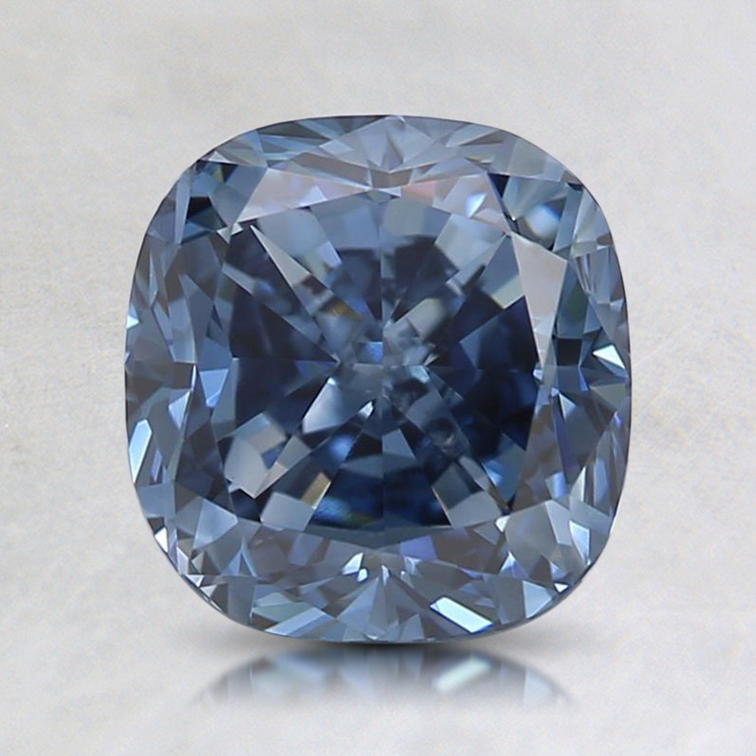 1.67 Ct. Fancy Vivid Blue Cushion Lab Created Diamond