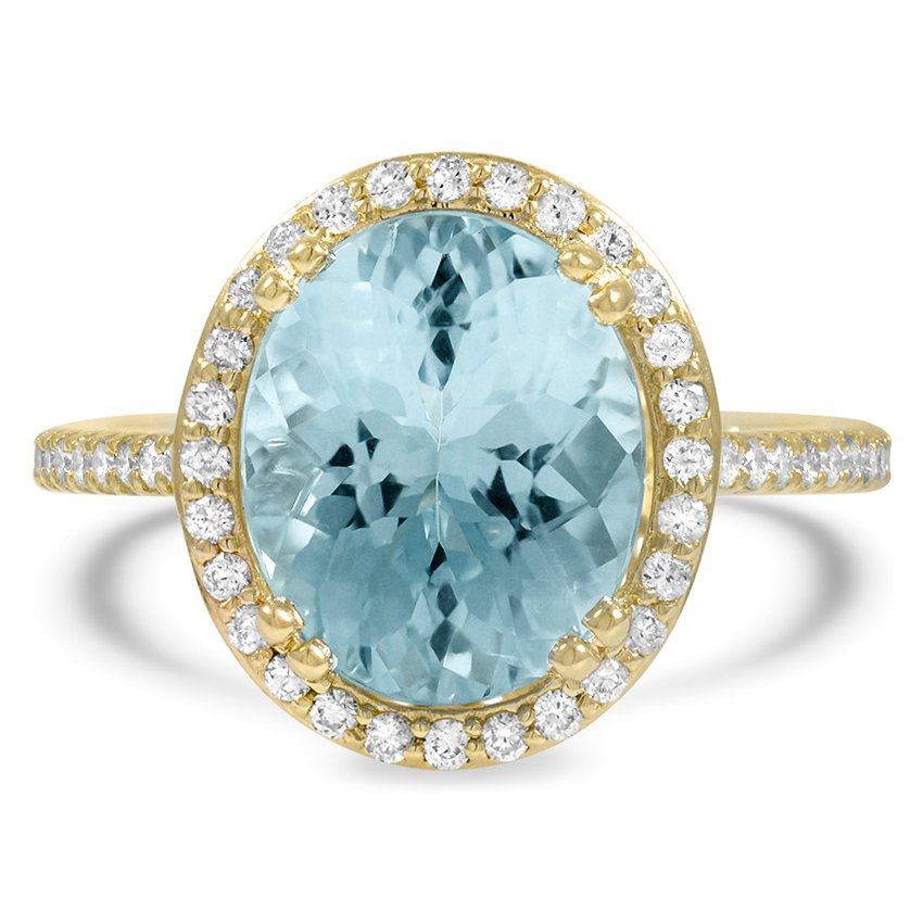Retro Reproduction Aquamarine Vintage Ring