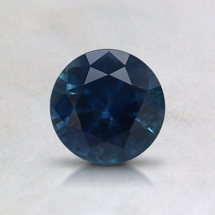 5.5mm Montana Blue Round Sapphire, top view