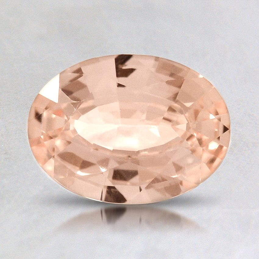 8x6mm Unheated Peach Oval Sapphire, top view