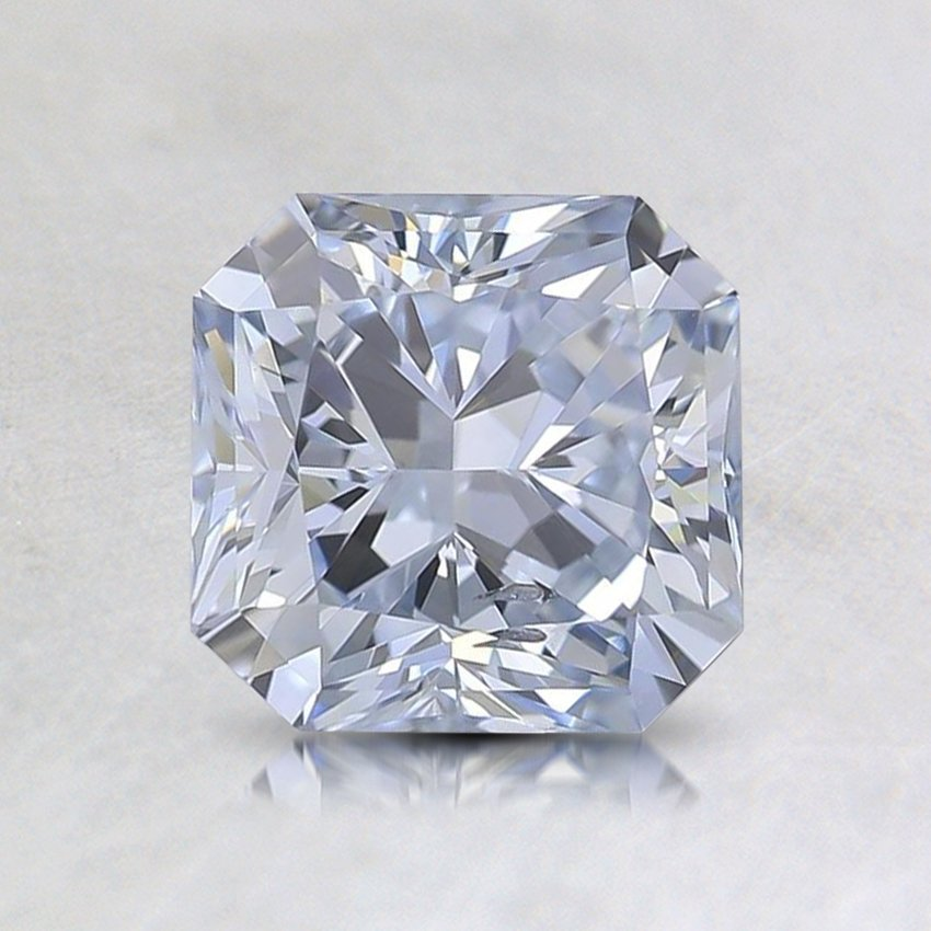 1.55 Ct. Lab Created Fancy Blue Radiant Diamond