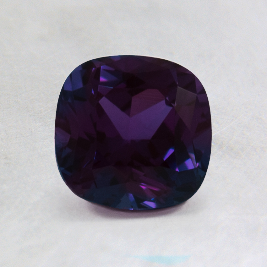 6mm Lab Created Cushion Alexandrite