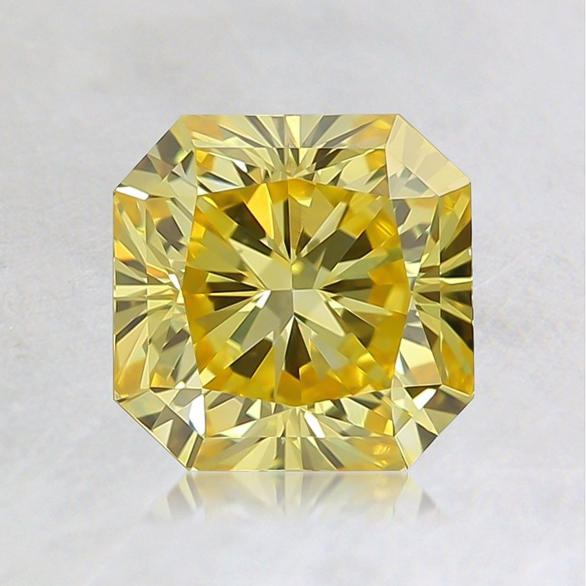 1.25 Ct. Fancy Vivid Yellow Radiant Lab Created Diamond