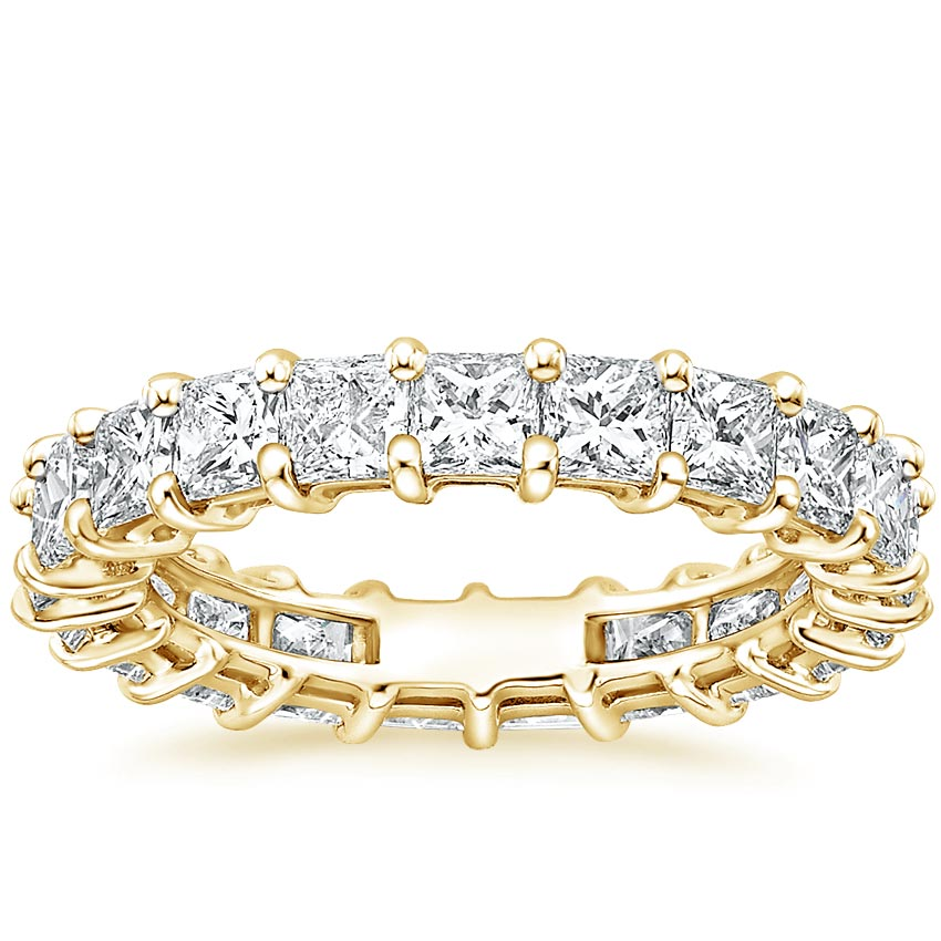 Yellow Gold Princess Eternity Diamond Ring (4 ct. tw.)