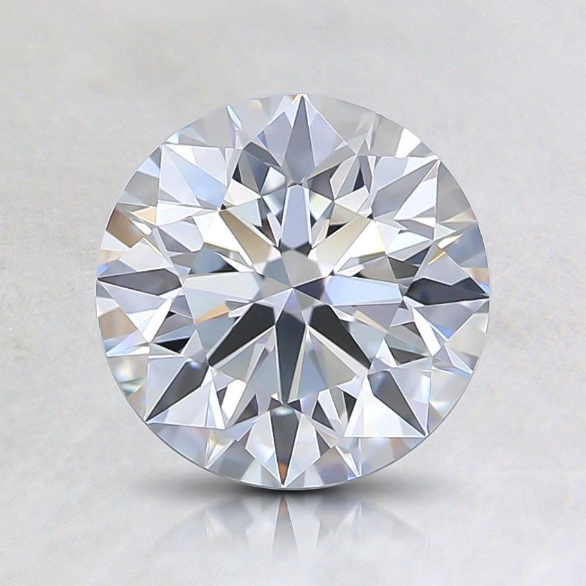 1.23 Ct. Fancy Light Blue Round Lab Created Diamond
