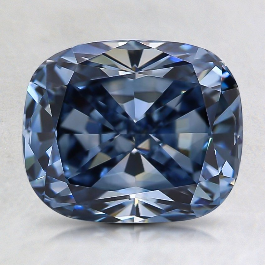 2.44 Ct. Fancy Intense Blue Cushion Lab Created Diamond