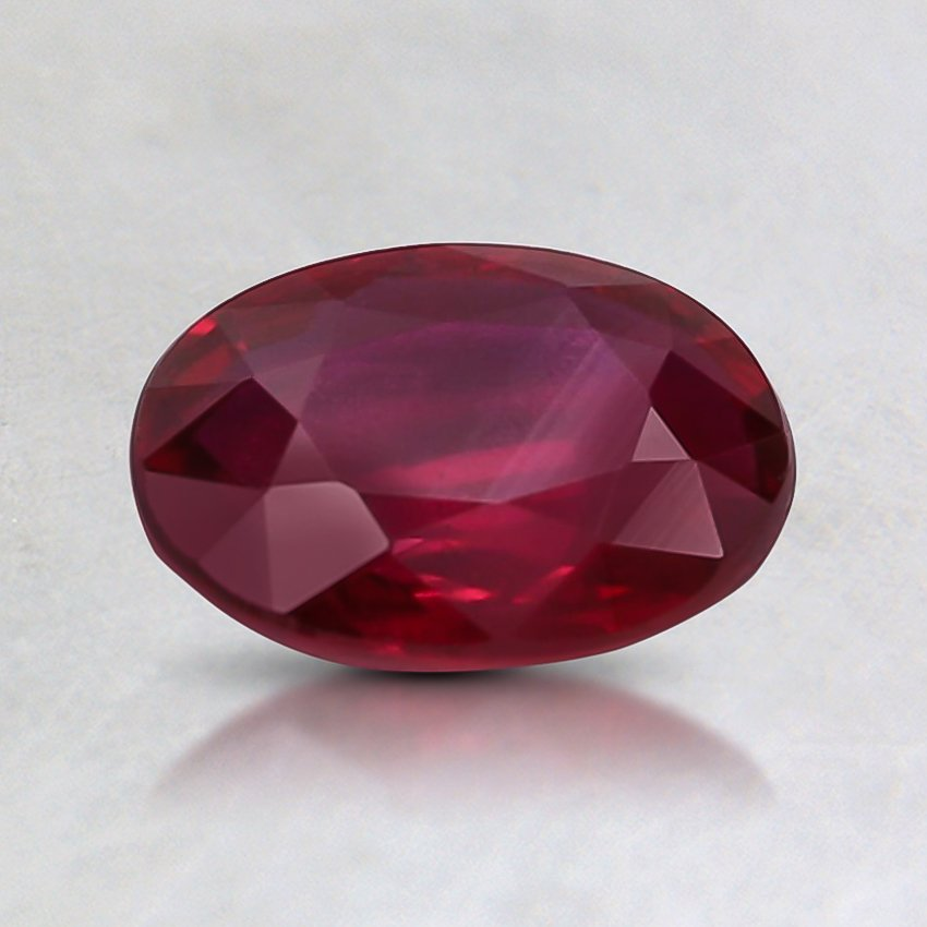 7.3x5.2mm Unheated Oval Ruby