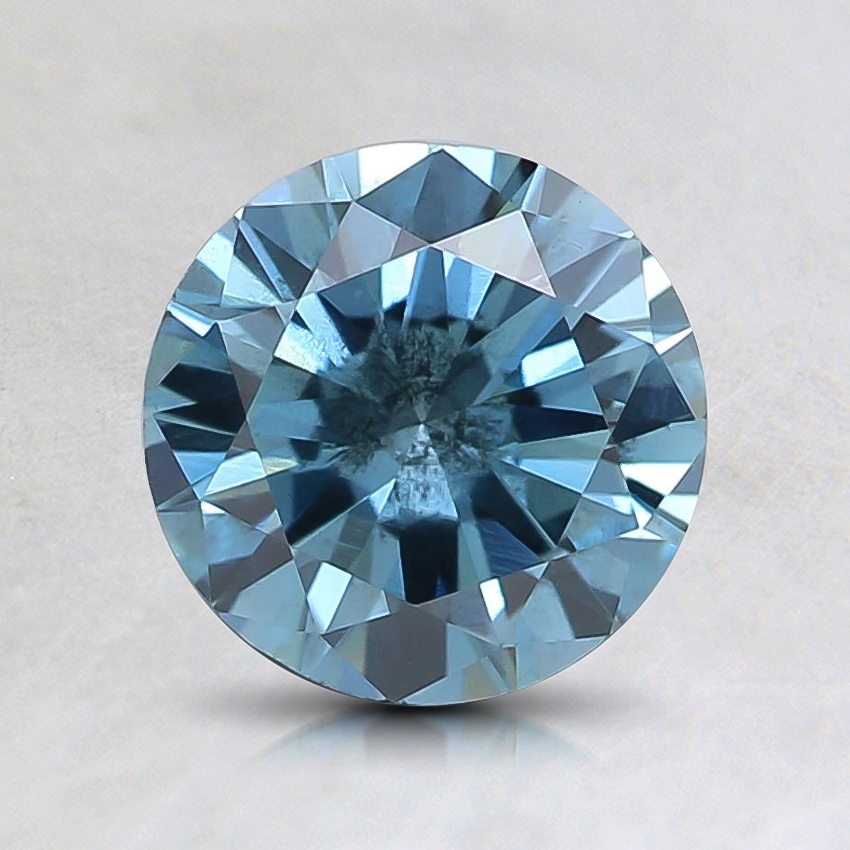 1.01 Ct. Fancy Intense Blue Round Lab Created Diamond