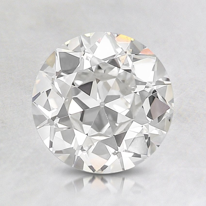 1.14 Carat, H Color, SI1 Clarity, Round Old European Cut Diamond, top view