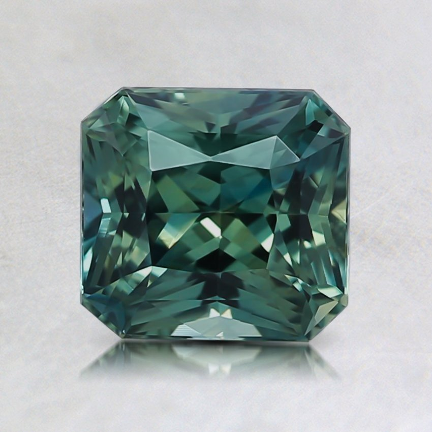 6.3x6mm Teal Radiant Sapphire
