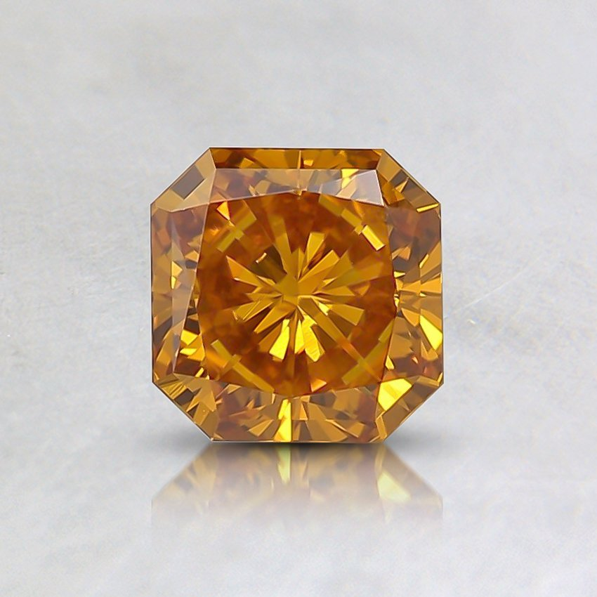 0.63 Ct. Fancy Vivid Yellowish Orange Radiant Lab Created Diamond