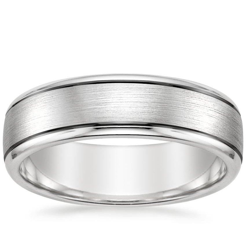 Matte Wedding Ring with Black Rhodium