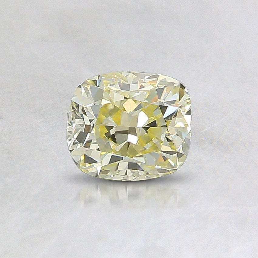0.51 Ct. Fancy Yellow Cushion Diamond