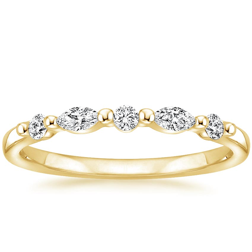 Yellow Gold Petite Versailles Diamond Ring (1/5 ct. tw.)