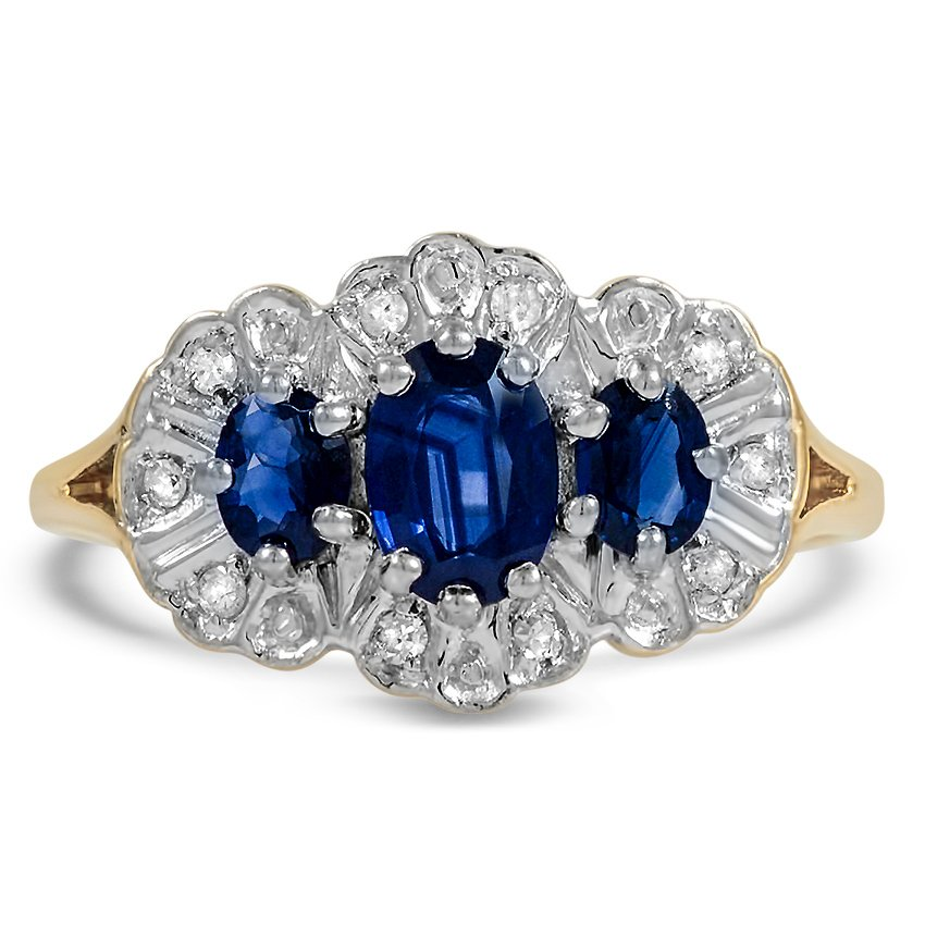 Edwardian Sapphire Cocktail Ring