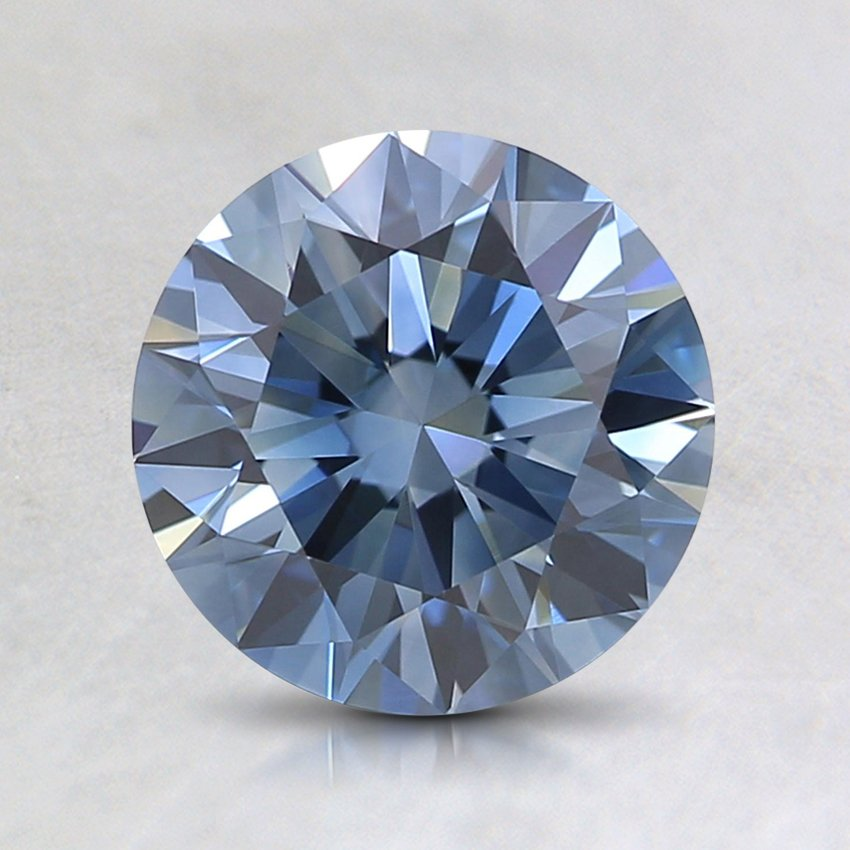 1.36 Ct. Lab Created Fancy Deep Blue Round  Diamond
