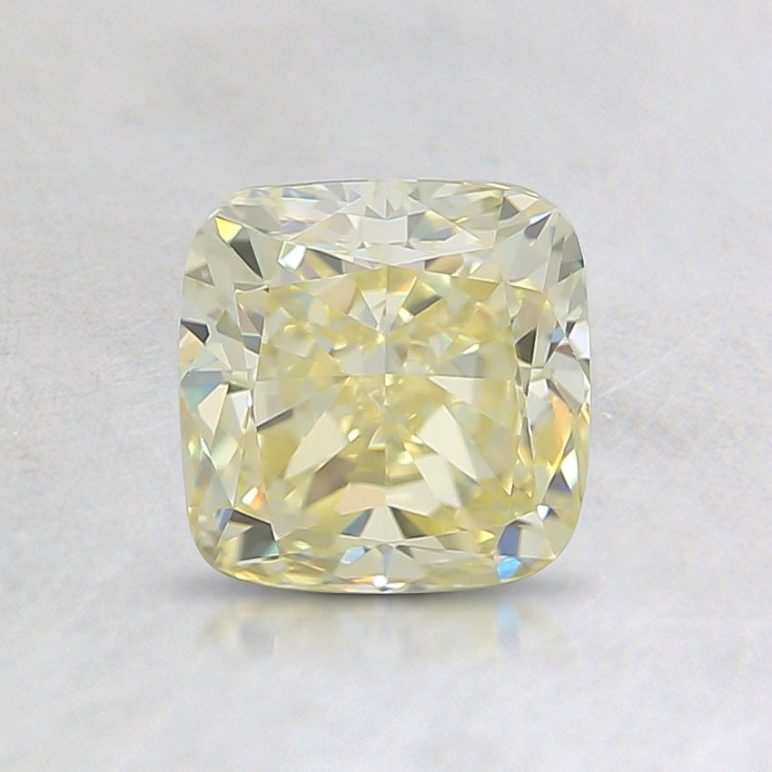 0.91 Ct. Fancy Yellow Cushion Diamond