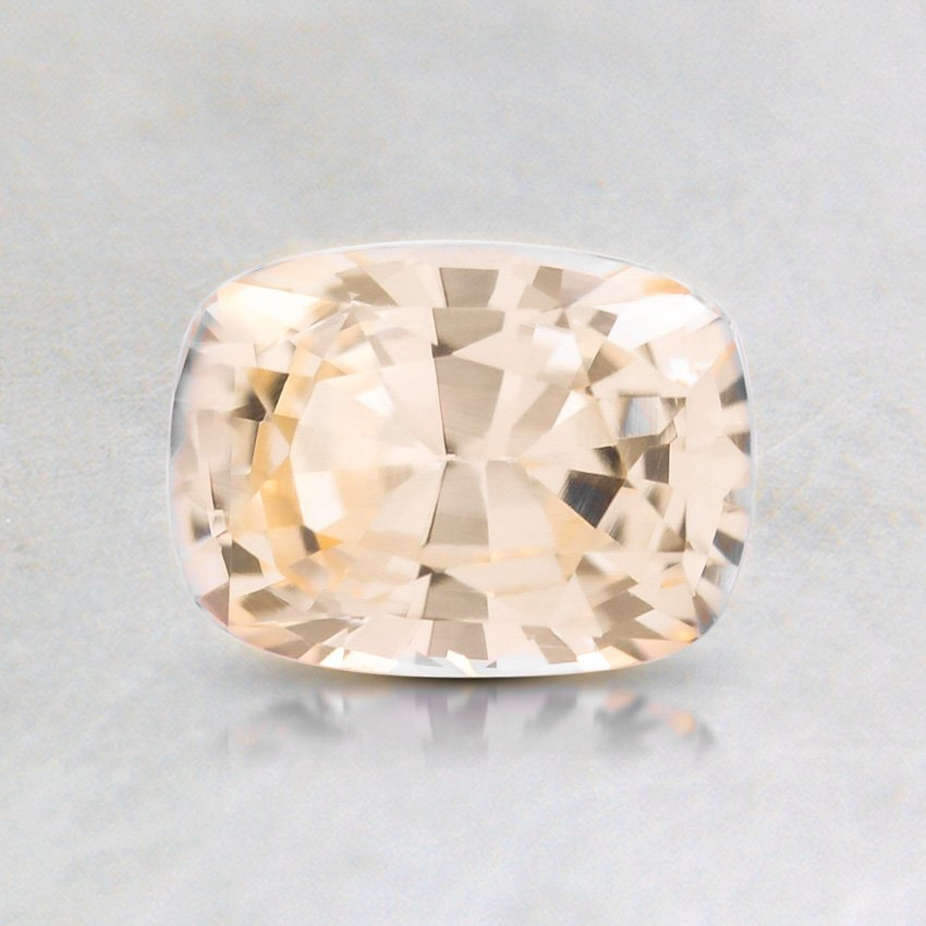 6.5X5mm Peach Cushion Sapphire, top view