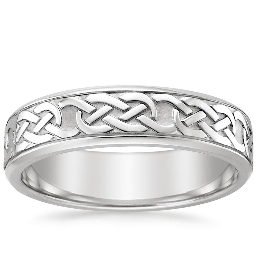 Celtic Eternity Knot Wedding Ring in Platinum