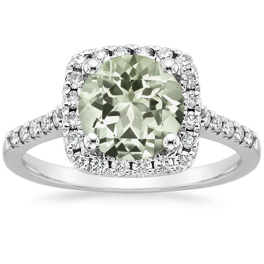 Well-liked Prasiolite Odessa Ring (1/4 ct. tw.) in 18K White Gold | Brilliant  XA75