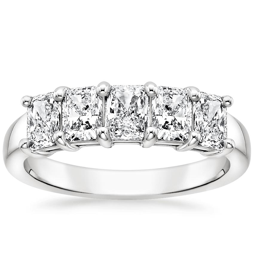 Radiant Five Stone Diamond Ring (1 1/2 ct. tw.) in Platinum