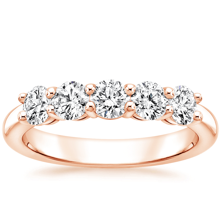 Rose Gold Round Five Stone Diamond Ring (1 ct. tw.)
