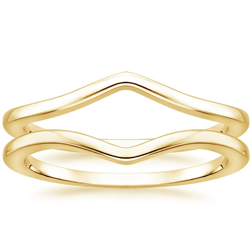 Yellow Gold Chevron Nested Ring Stack