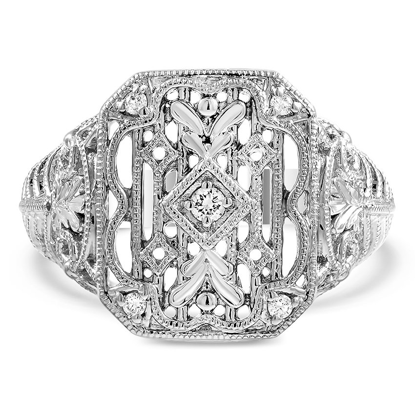 Custom Old Hollywood Milgrain and Filigree Ring