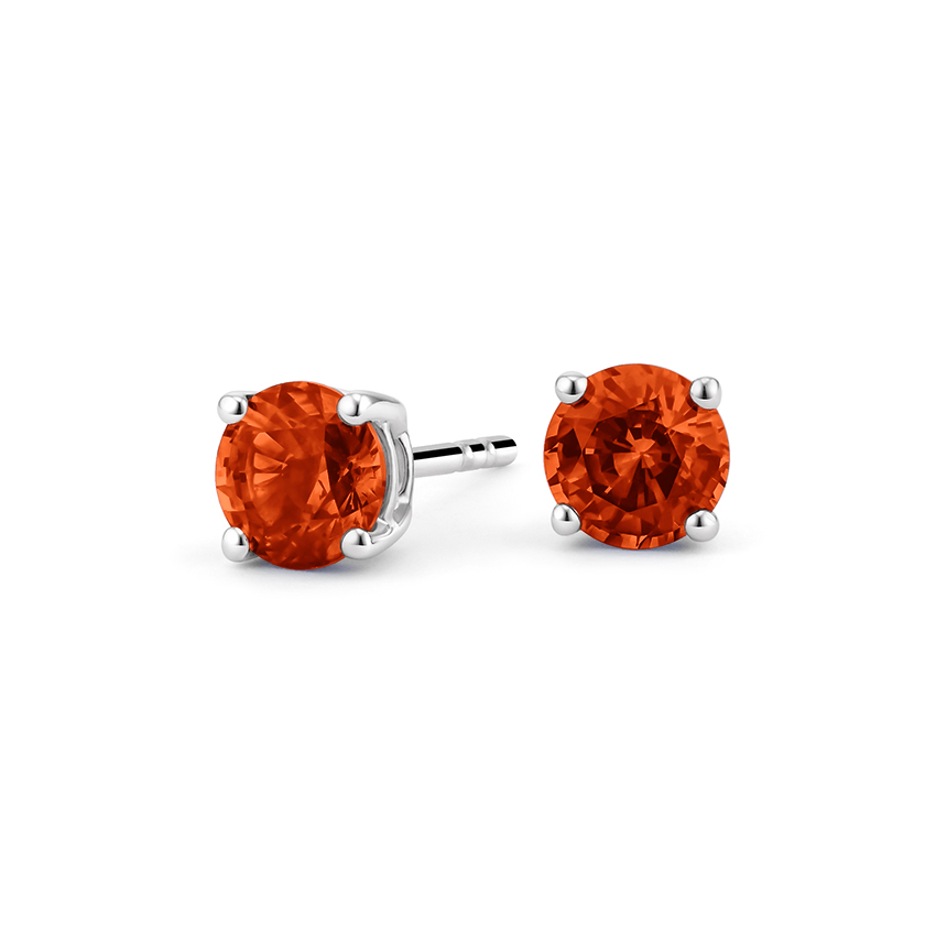 Fire Citrine™ Stud Earrings in Silver