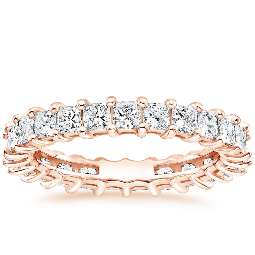 Rose Gold Princess Eternity Diamond Ring (2 ct. tw.)