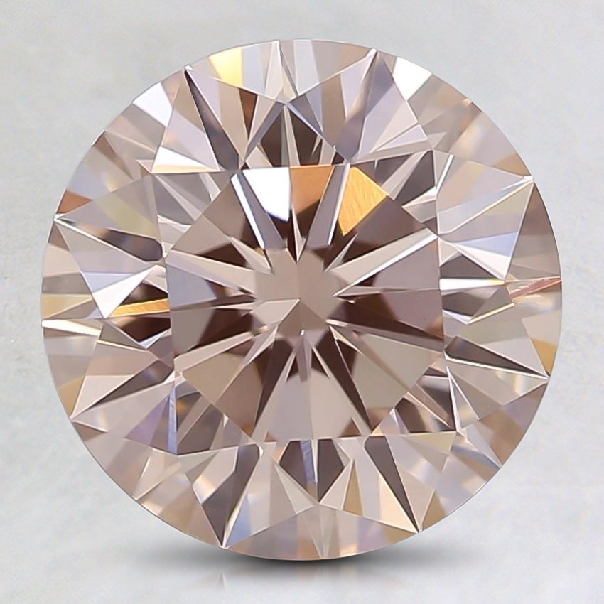 1.80 Ct. Fancy Light Pink Round Lab Created Diamond