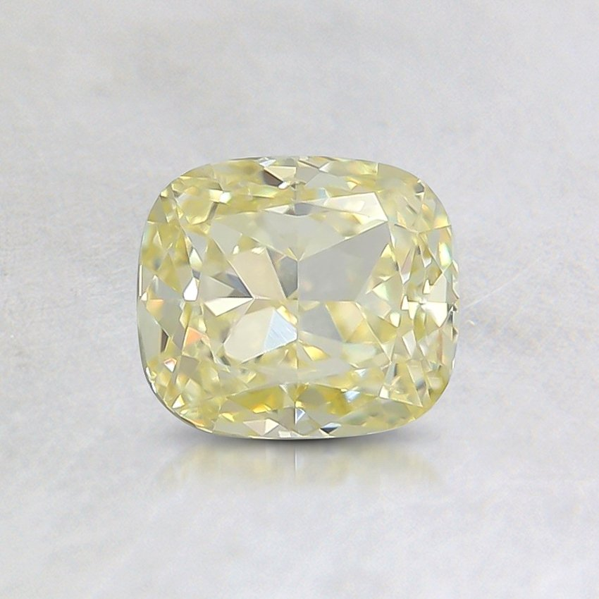 0.80 Ct. Fancy Yellow Cushion Diamond