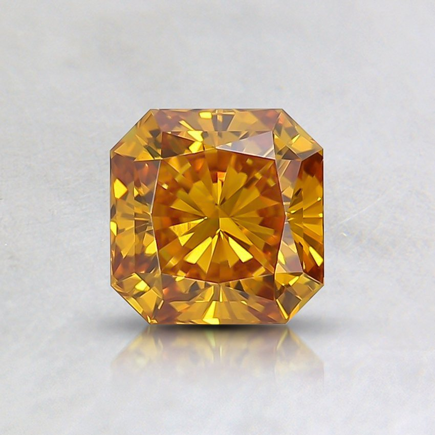 0.61 Ct. Fancy Vivid Orange-Yellow Radiant Lab Created Diamond
