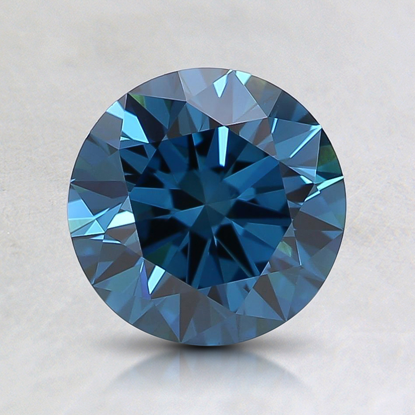 1.21 Ct. Fancy Deep Greenish Blue Round Lab Created Diamond