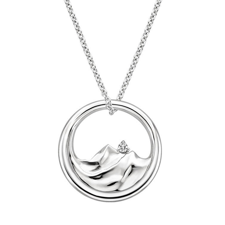 Top TwentyGifts - MOUNTAIN RANGE DIAMOND PENDANT