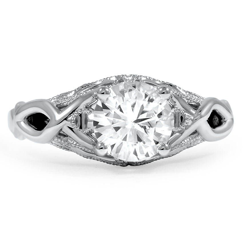 Custom Filigree and Milgrain Diamond Ring