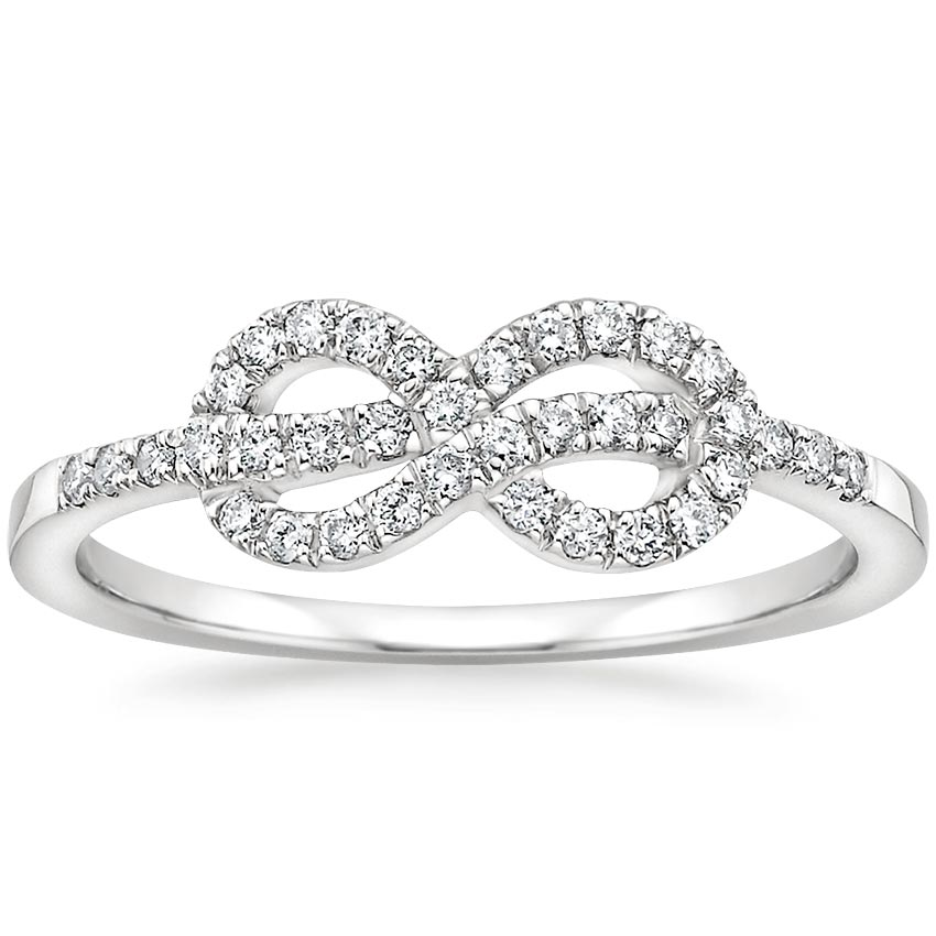 Unity Diamond Ring in 18K White Gold