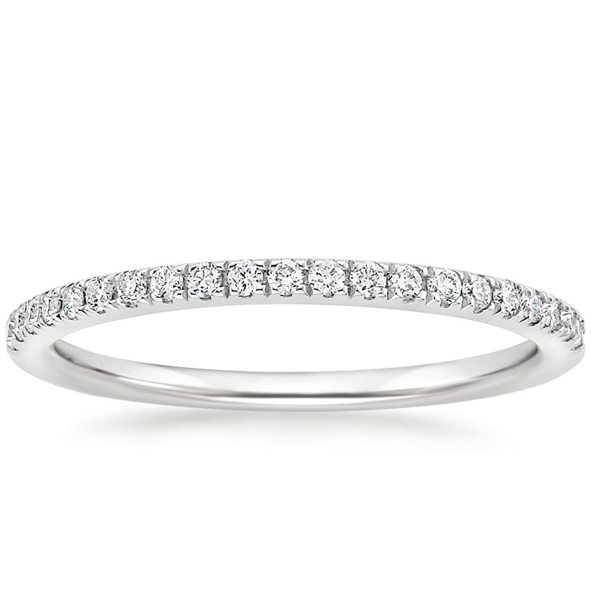 Petite Scalloped Pavé Wedding Band